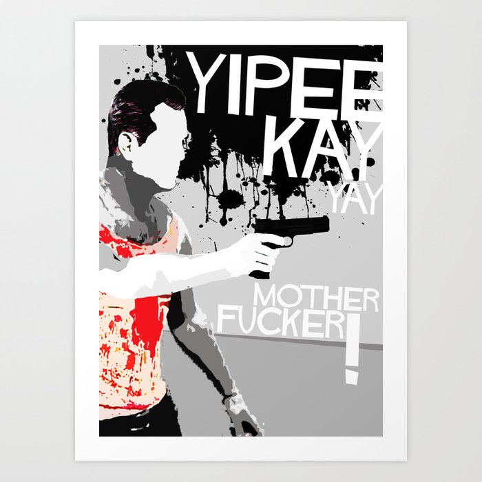 Movie Quote with-a-gun 2 Art Print
