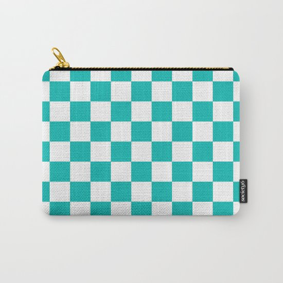 Checker (Tiffany Blue/White) Carry-All Pouch