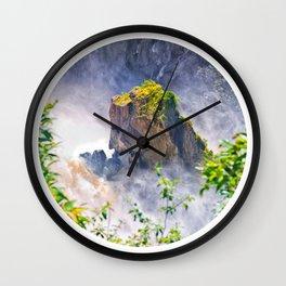 Rock in the falls Wall Clock