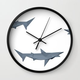Origami Shark Wall Clock