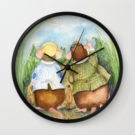 Friendly Vacation Wall Clock