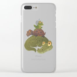 Swamp Squad Clear iPhone Case