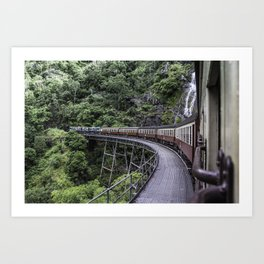 The Kuranda Train Art Print