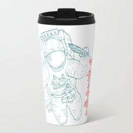 The message (spaceman) Travel Mug