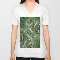 fractal V-neck T-shirts featuring Fractal by nicky2342