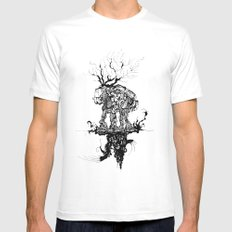 up&under Mens Fitted Tee White MEDIUM