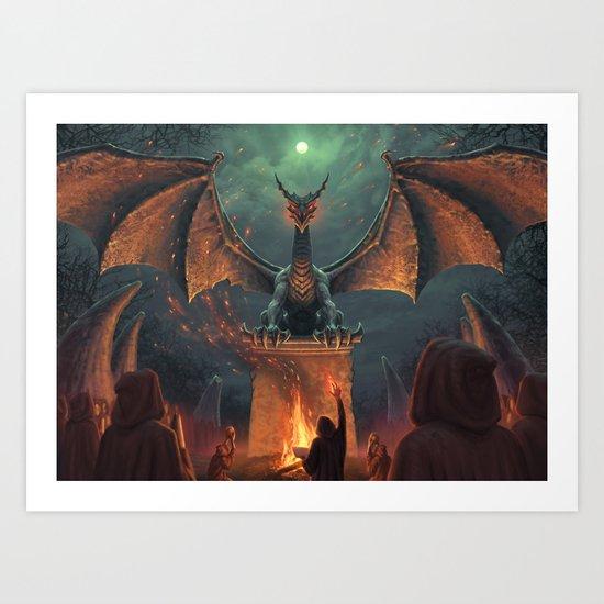 Draconic Ritual Art Print