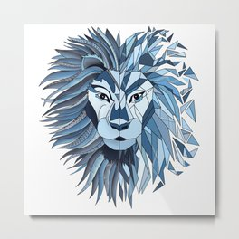 The Dark Side - Lion Metal Print