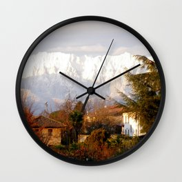November Snow Wall Clock