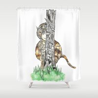 wild things Shower Curtains featuring The Wild Things by Cherry Virginia
