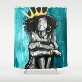 Naturally Queen IX TEAL Shower Curtain