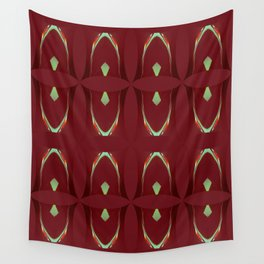 Arch Echoes on Red Wall Tapestry