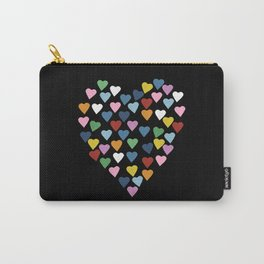 Hearts Heart Black Carry-All Pouch