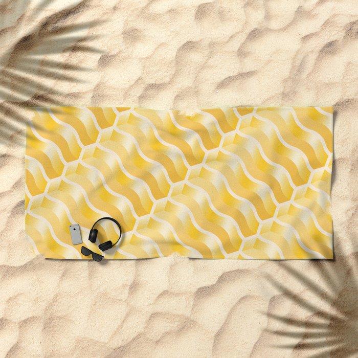 Geometric Vibes: Power  Beach Towel