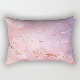 Blush and Purple Sky with Rose gold flashes Rectangular Pillow