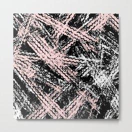 Desert Tracks Pink Metal Print