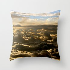 Sky over the Atlantic Ocean Throw Pillow