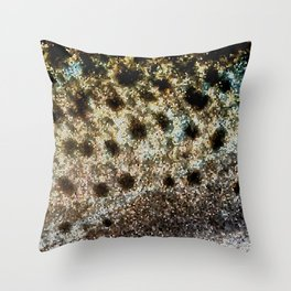 Trout Scales, Fish Scales II x Stained Glass Throw Pillow