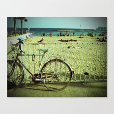Bicycle by the Beach Canvas Print