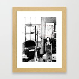 Dolly and Vaccuum Framed Art Print