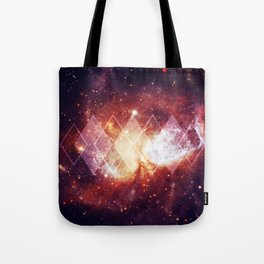 Shining Nebula - Red Tote Bag