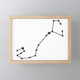 Scorpio Star Sign Black & White Framed Mini Art Print
