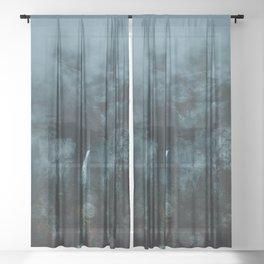Yosemite Raindrops on my Windshield Sheer Curtain