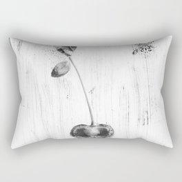 Black and White Cherry Rectangular Pillow