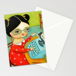 The writer of stories Stationery Cards