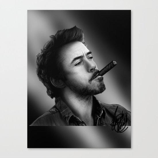 David's Portrait #2 Robert Downey Junior Canvas Print