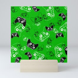 Video Game Green Mini Art Print