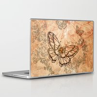 butterflies Laptop & iPad Skins featuring Butterflies by nicky2342