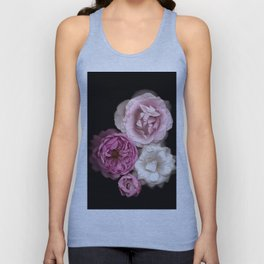 Purple, Pink, and White Roses Unisex Tank Top