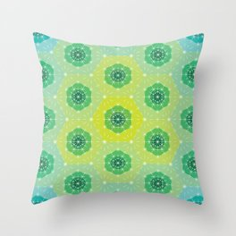 Ombre Dashed Hexagons Pattern Throw Pillow