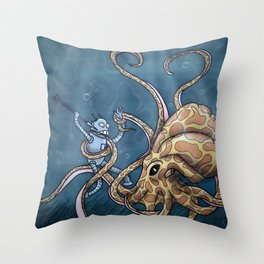 The Great Below Throw Pillow