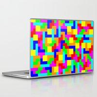 tetris Laptop & iPad Skins featuring Tetris by tonilara