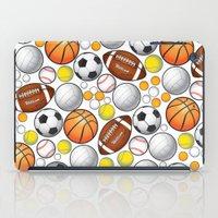 sport iPad Cases featuring Sport Balls by Martina Marzullo Art