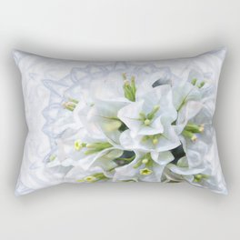 pretty bouganvillea on delicate kaleidoscope Rectangular Pillow