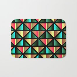 Emerald triangles Bath Mat
