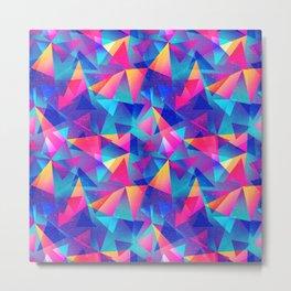 Rainbow Triangle Pattern Metal Print