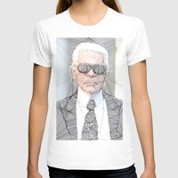 karl lagerfeld T-shirts featuring ICONS: Karl Lagerfeld by LeeandPeoples