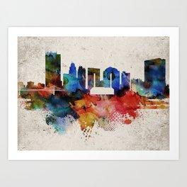 Toledo Abstract Skyline Art Print