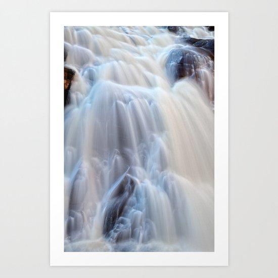 Chutes du Diable Waterfall Art Print