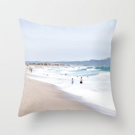 Costa Brava beach Throw Pillow