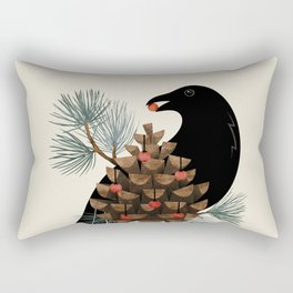 Bird & Berries Rectangular Pillow