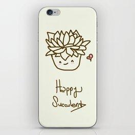 Happy Succulent iPhone Skin