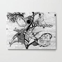 Bird Attack 3.0 Metal Print