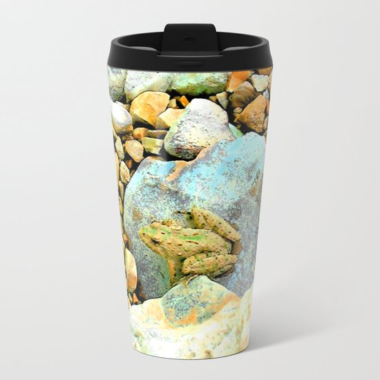 Summer Time Frog Metal Travel Mug