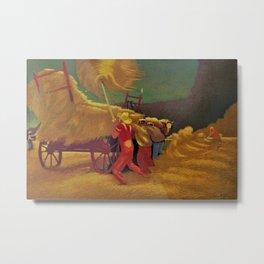Classical Masterpiece 'Race Against the Rain' by Bernard J. Steffen Metal Print