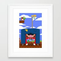 mario Framed Art Prints featuring Mario by Ryan Miller